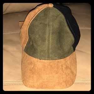Free People polyester colorblock hat